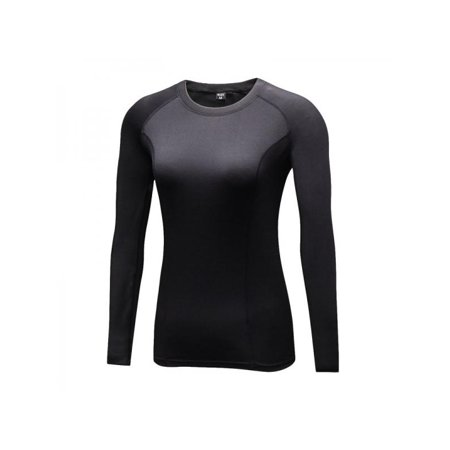 Women Long Sleeve Velvet Compression Quick Dry Sports Running Athletic T-shirts Tops