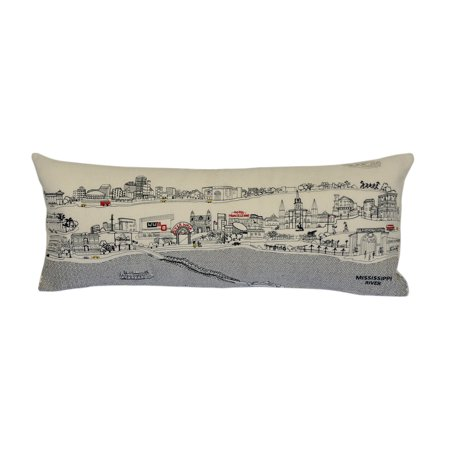 Beyond Cushions New Orleans Daytime Skyline Queen Size Embroidered Accent Pillow](Accents Beyond)