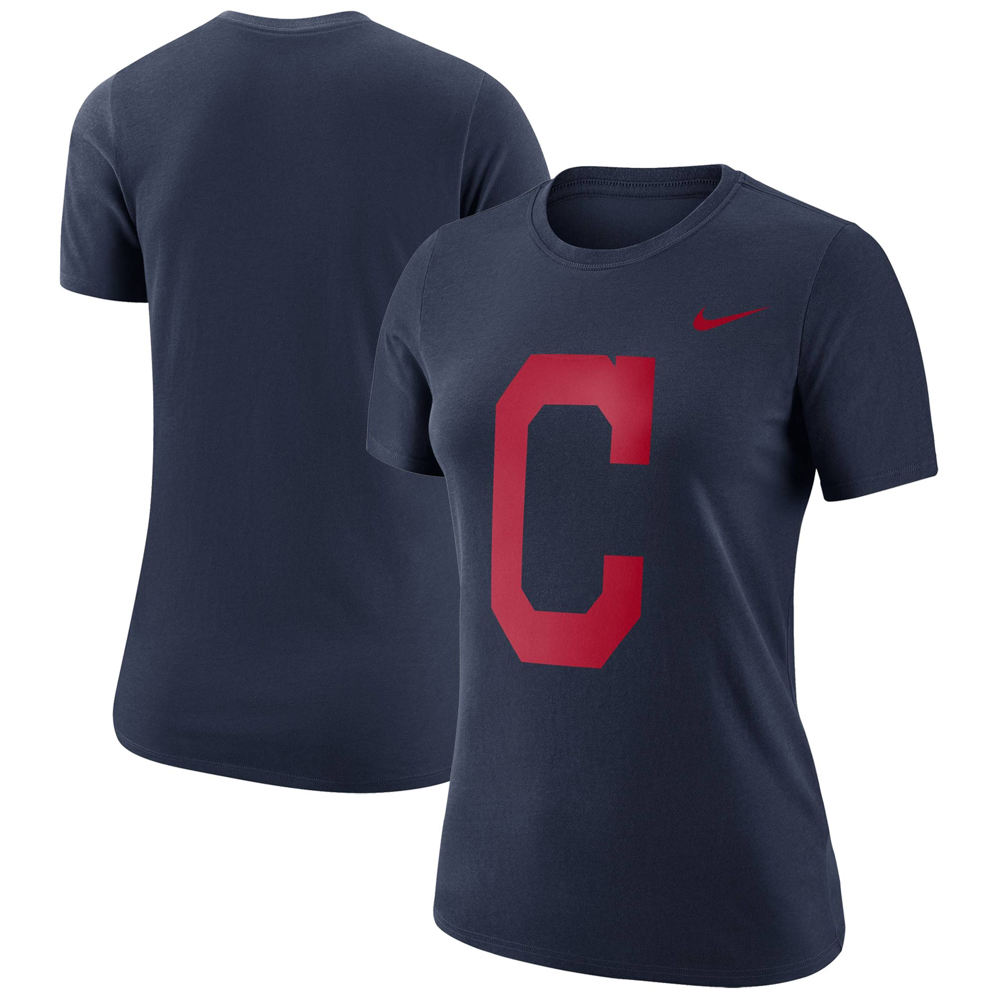 Cleveland Indians Nike Women's Logo Dry Performance T-Shirt - Navy