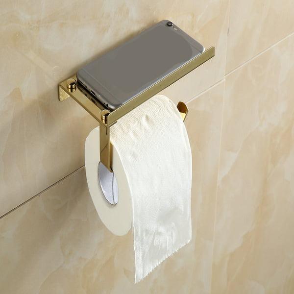 304 Stainless Steel Toilet Paper Holder Storage Bathroom Kitchen Paper Towel Dispenser Tissue Roll Hanger Wall Mount... by