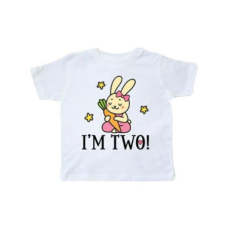 Rabbit Moon Toddler Girl (2nd Birthday Bunny Rabbit 2 Year Old Girl Toddler T-Shirt)