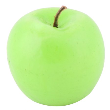 Family Office Decor Foam Lifelike Artificial Emulation Fake Fruit Apple Green