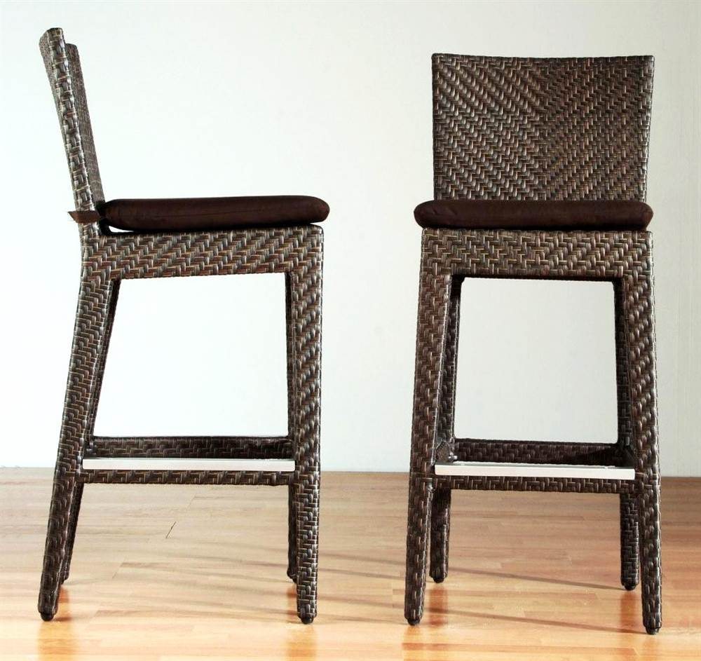 Soho Patio Barstool in Rehau Fiber Java Brown Finish