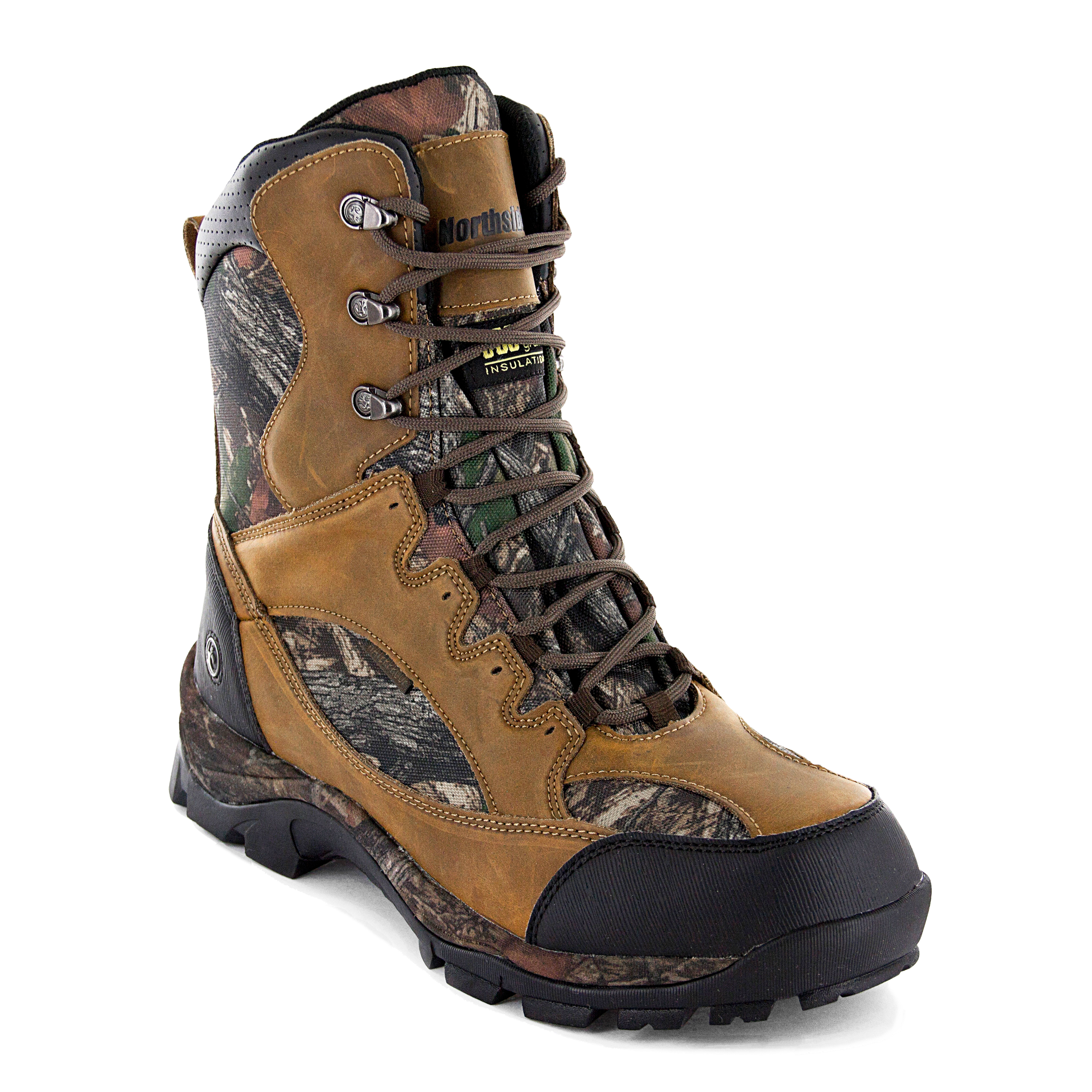 Northside Mens Renegade Waterproof 800 Gram Ultra Insulated Leather Hunting Boot Camo