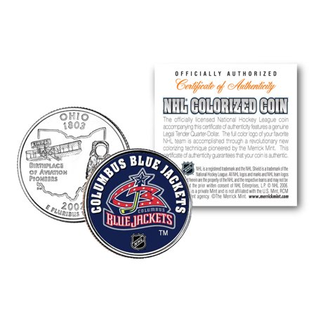 COLUMBUS BLUE JACKETS NHL Hockey Ohio Statehood Quarter Colorized Coin - Halloween Usa Columbus Ohio