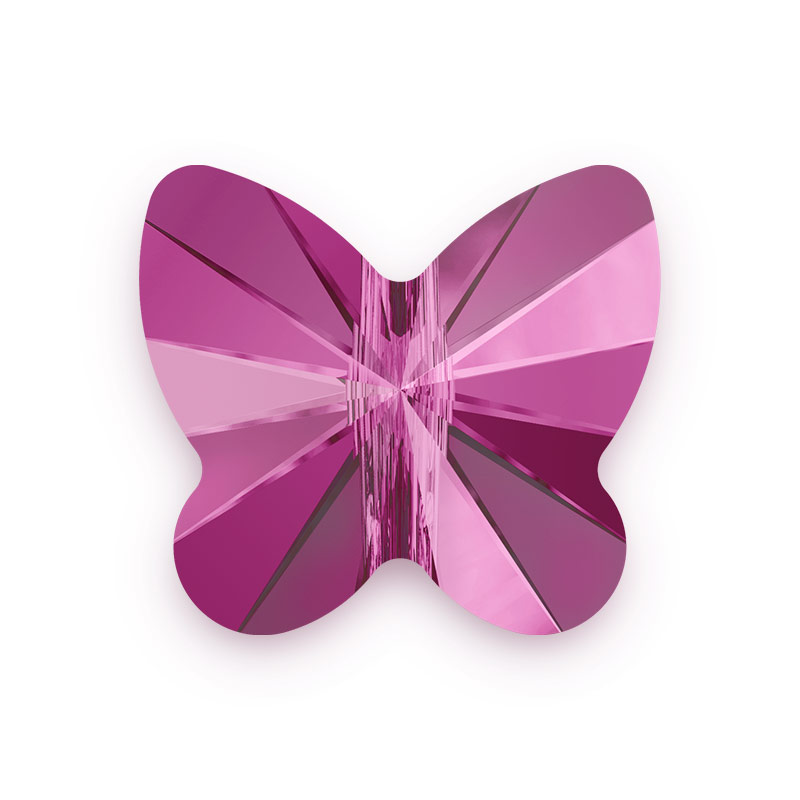 Swarovski Butterfly Bead 5754 10mm Fuchsia (Package of 1)