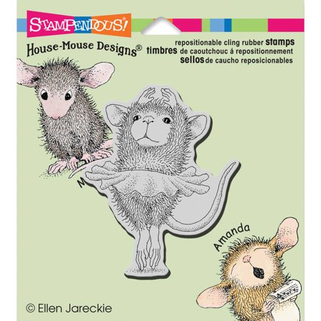 - Stampendous House Mouse Cling Rubber Stamp, 4.75