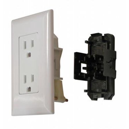Wirecon White Decorator Wall Receptacle for Mobile Homes and RV's