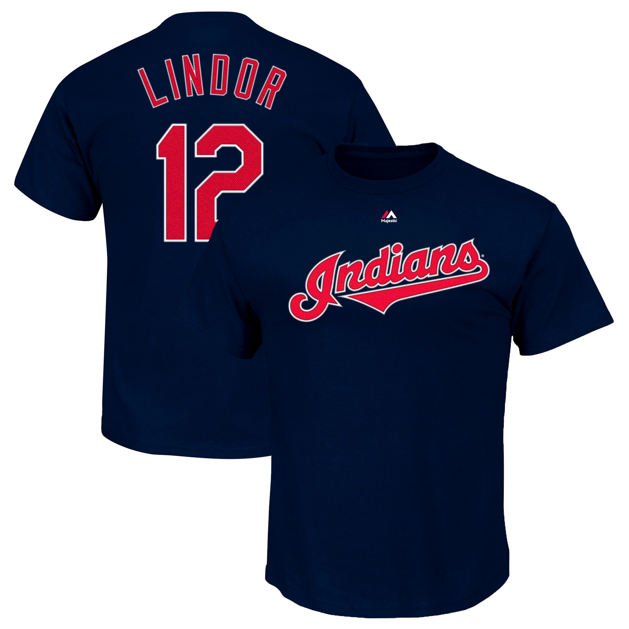Francisco Lindor Cleveland Indians Majestic Youth Player Name & Number T-Shirt - Navy