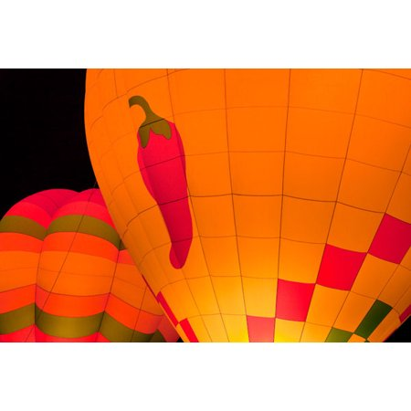 Glowing Balloons II, Fine Art Photograph By: Kathy Mahan; One 36x24in Fine Art Paper Giclee Print