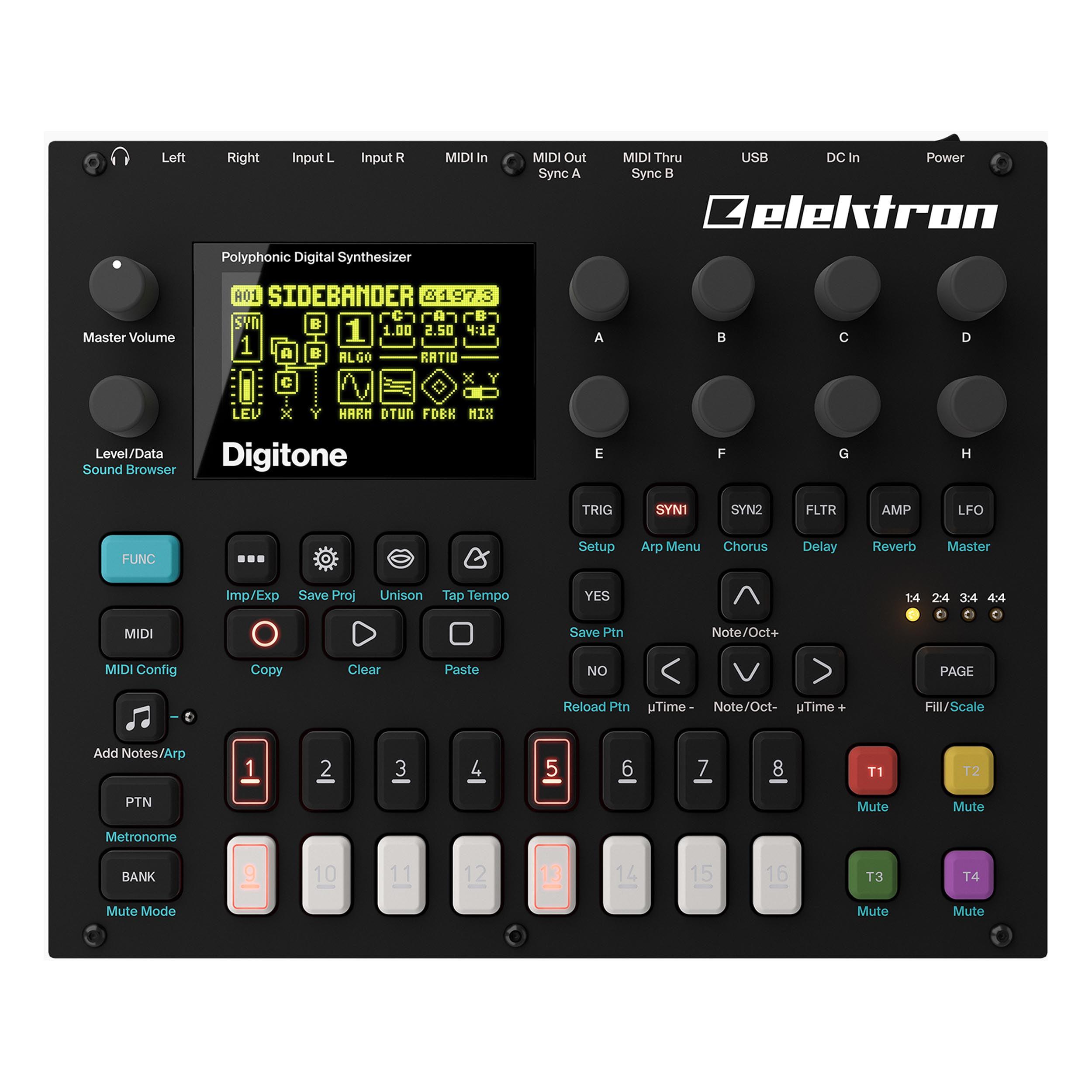 Elektron Digitone 8-Voice Digital Synth w  Sequencer by Elektron