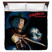 Nightmare On Elm Street Freddy Poster King Duvet Cover White 104X88