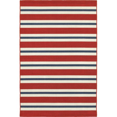 Moretti Constant Area Rugs - 5701R Contemporary Red Bars Lines Stripes Rows Rug