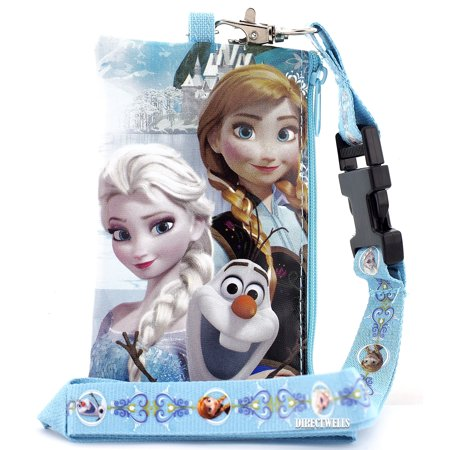 Disney Frozen Anna Elsa and Olaf Snow Blue Lanyard with Detachable Coin - Anna Elsa And Olaf Costumes