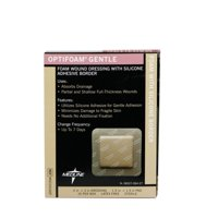 Medline  Optifoam Gentle Border 3 x 3inch Adhesive Dressings (Pack of 10)