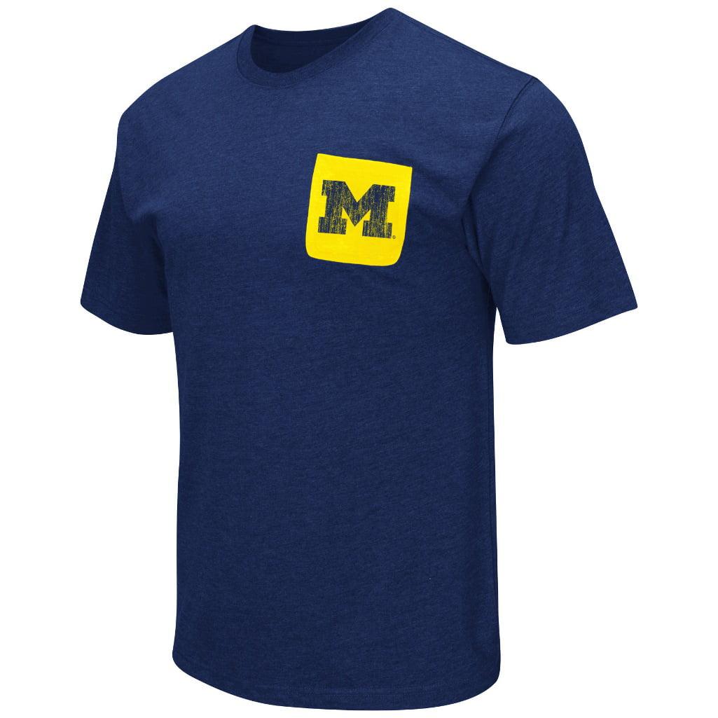 "Michigan Wolverines NCAA ""Banya"" Men's Dual Blend S/S Pocket T-Shirt"