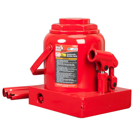 Torin Big Red 50 Ton Capacity Heavy Duty Hydraulic Industrial Steel Bottle Jack