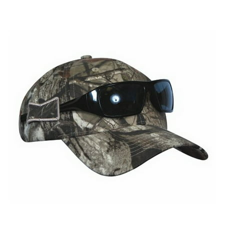 Camouflage Sunglasses (Men's Camo Hunting Hat with Opti-Grab Sunglasses Holder [US Patented] by KC)