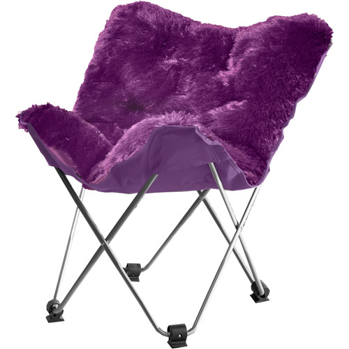 your zone lux shag butterfly chair, Multiple Colors