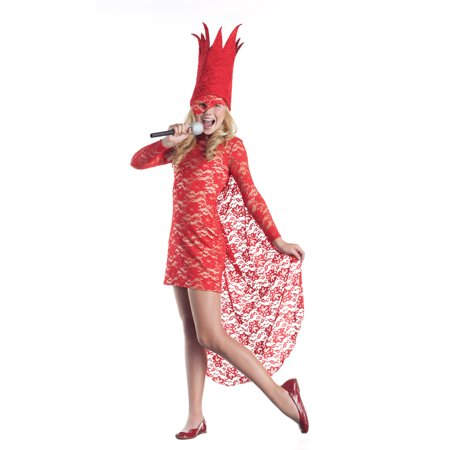 Child Pop Star Red Lace Pop Star Costume by Party King PK142C