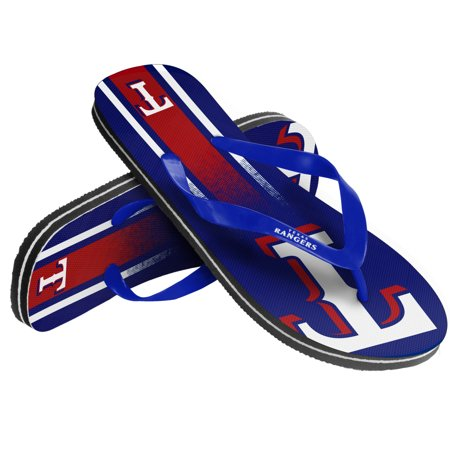 Image of Unisex Gradient Big Logo Flip Flop For MLB Texas Rangers X-Small