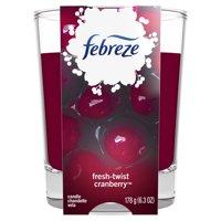 Febreze Candle, Fresh-Twist Cranberry, 1 Count