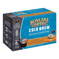 Kauai Cold Brew Coffee Pods, Coconut Caramel Crunch, 6 Count