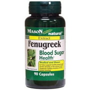 Mason Natural Fenugreek Blood Sugar Health Capsules, 90 Count