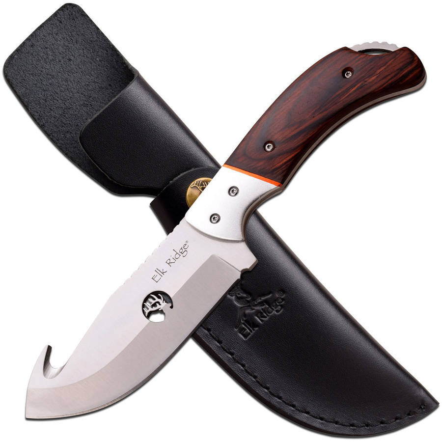 Fixed Blade Guthook Brown