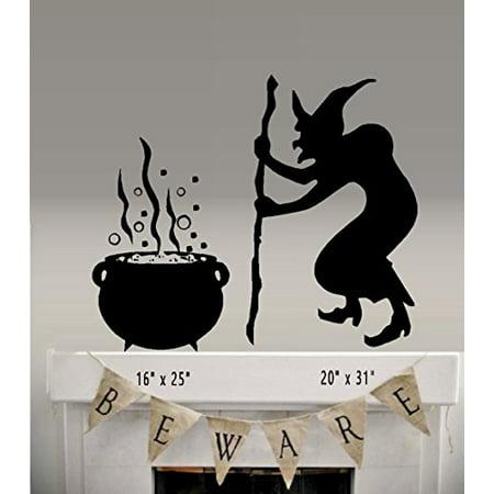 HALLOWEEN DECOR ~ Witch and Brew ~ Ex Large ~ Wall or Window Halloween Decal,: Witch 20