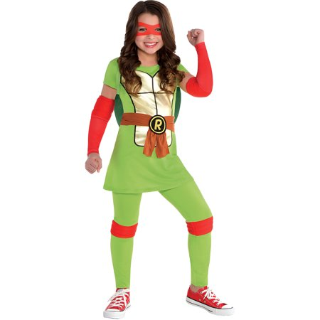 Best Teenage Girl Halloween Costumes (Amscan Teenage Mutant Ninja Turtles Raphael Halloween Costume for Girls, Small, with Included)