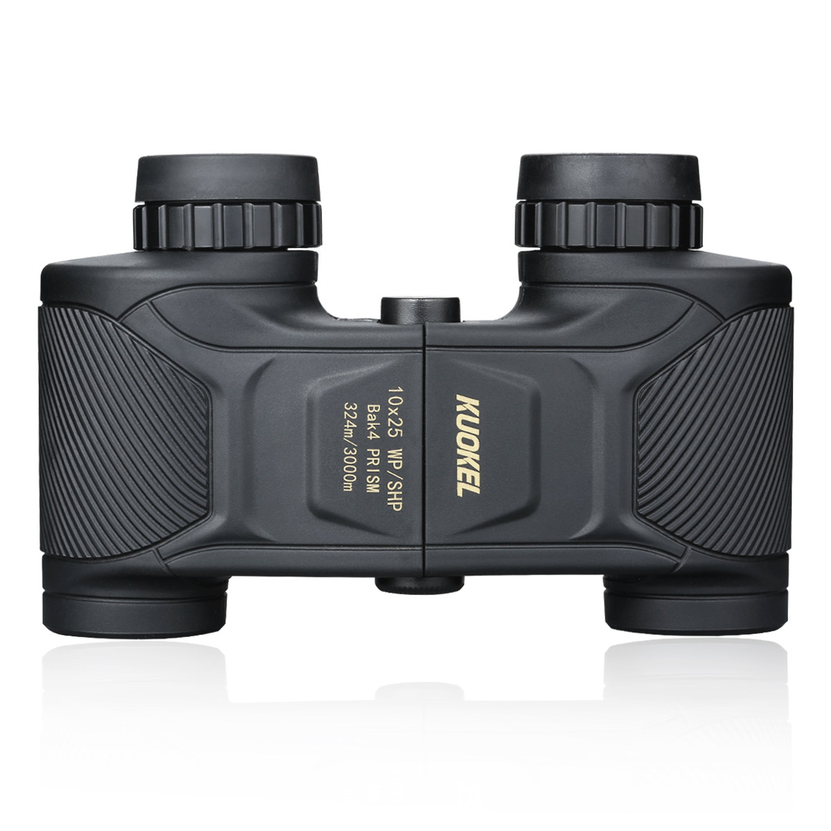 Kuokel Adults Folding Binoculars Telescope 10x25 324/3000M BAK4 Ultra-Vision Compact for Bird Watching Kids Chidren Gift Sport Game Concerts Waterproof