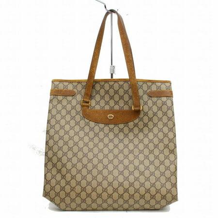 13a428b8ac6 Gucci - Monogram Gg Supreme Large Shopper 868012 Brown Coated Canvas Tote -  Walmart.com