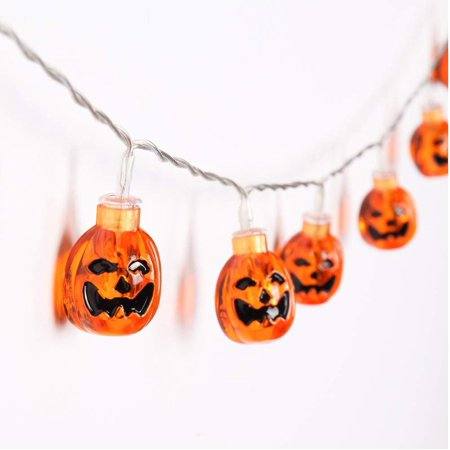 Halloween String Lights, 40 LED 13ft 3D Pumpkin Lights Jack-O-Lantern Halloween String Light, Halloween Decorations for Indoor Outdoor,Warm White for $<!---->