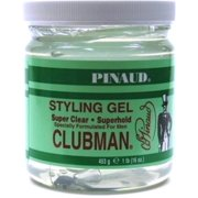 Clubman Pinaud Super Clear Styling Gel Super Hold, 16 oz (Pack of 4)