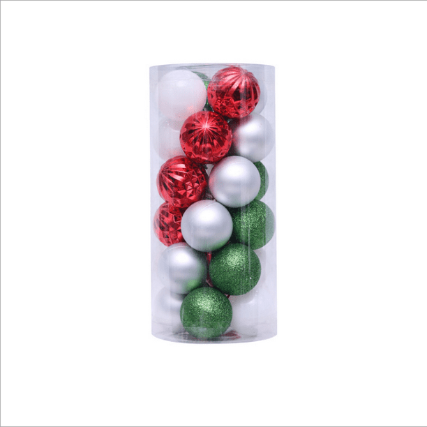 Christmas Balls Ornaments Shatterproof Christmas Tree Decoration Ball For Family Holiday Party Tree Ornaments Hooks Included A Walmart Com Walmart Com