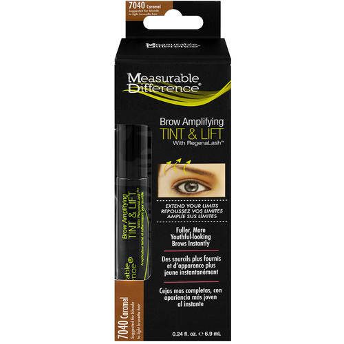 Measurable Difference Brow Amplifying Serum Tint & Lift with RegenaLash, 7040 Caramel, 0.24 fl oz