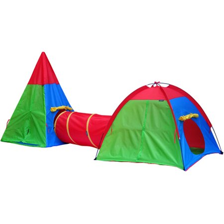 GigaTent Action Dome and Tepee with Tunnel Play Tent Set