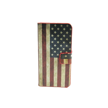 Tcd Iphone 5 5S American Flag Wallet Case  Credit Card Slots Screen Protector St