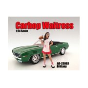 Carhop Waitress Brittany Figure For 1:24 Scale Models by American Diorama