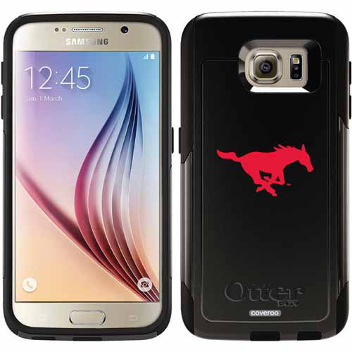 SMU Mustang Logo Design on OtterBox Commuter Series Case for Samsung Galaxy S6