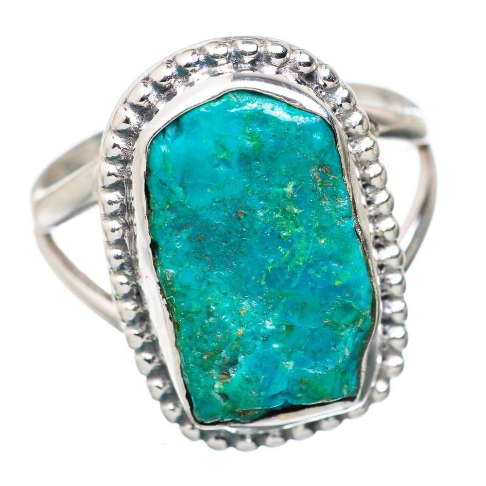 Ana Silver Co Chrysocolla 925 Sterling Silver Ring Size 7.75 RING820359