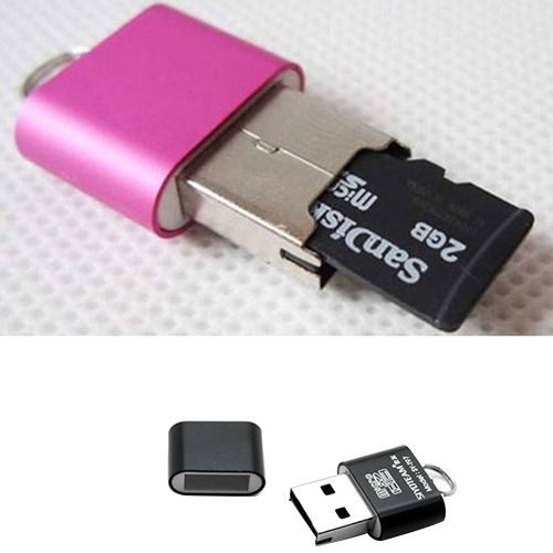 Girl12Queen Portable Mini USB 2.0 Micro SD TF T-Flash Memory Flash Drive Adapter Card Reader