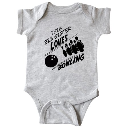 This Big Sister Loves Bowling Infant Creeper