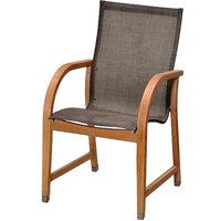 Amazonia Brooklyn Eucalyptus Wood and Mesh Outdoor Chairs, Set of 4