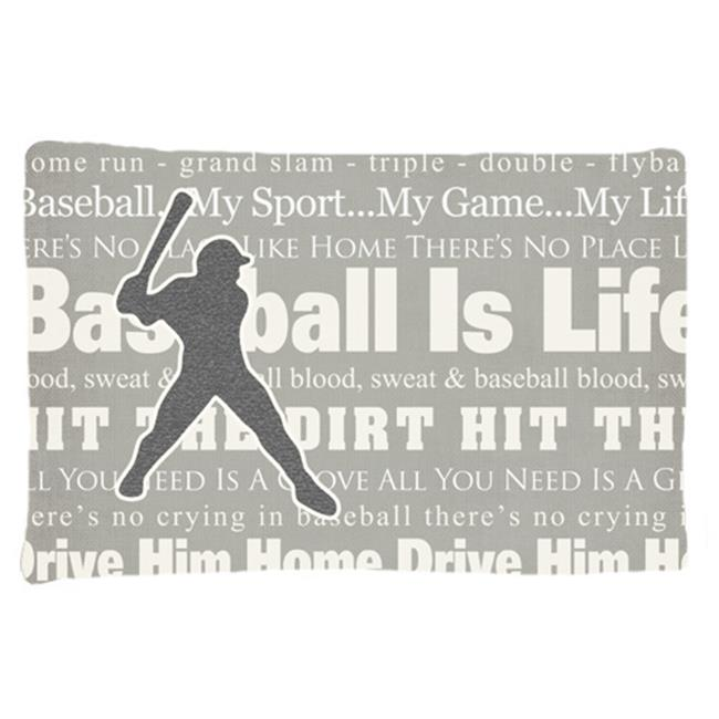 Carolines Treasures SB3078PILLOWCASE Baseball Is Life Moisture Wicking Fabric Standard Pillowcase