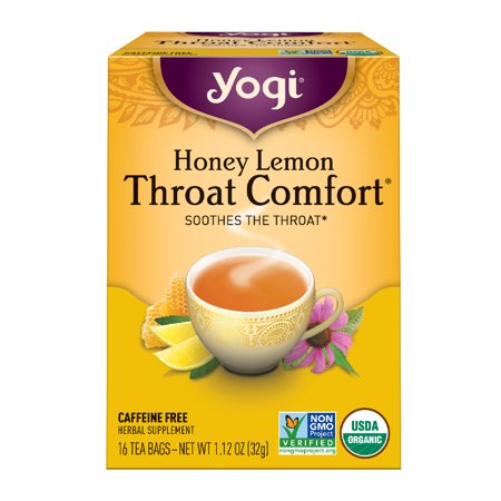 (3 Boxes) Yogi Tea, Honey Lemon Throat Comfort Tea, Tea Bags, 16 Ct, 1.12 OZ