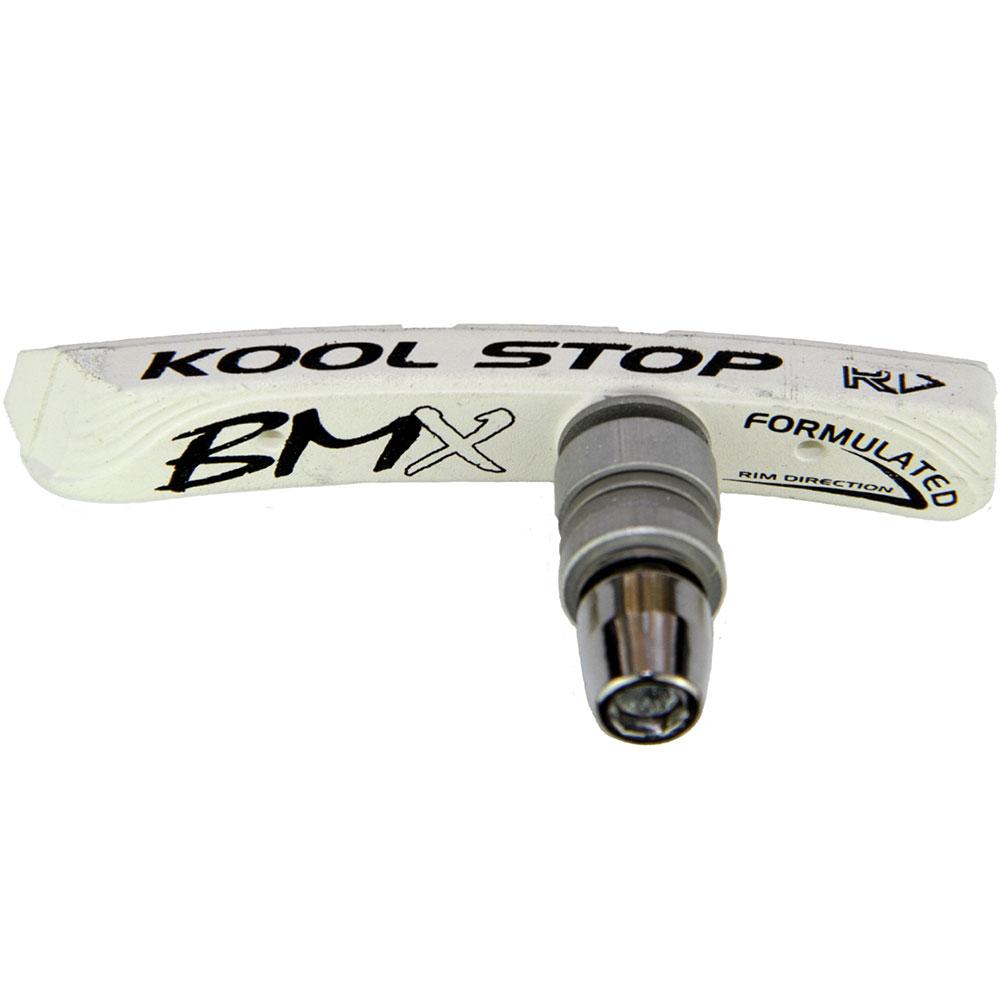 Kool-Stop Ks-Bmxw Bmx Nut Type Brake Shoes White