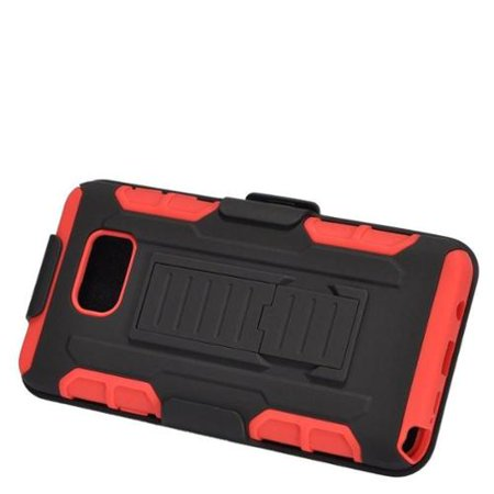 Insten Car Armor Hard Hybrid Plastic Silicone Stand Case with Holster For Samsung Galaxy Note 5 - - Halloween 5 Car Chase