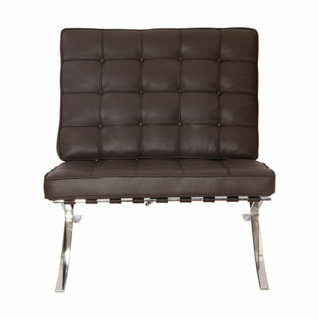 eMod - Pavilion Barcelona Chair in Italian Leather Brown